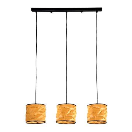 LAMPA WISZĄCA POTRÓJNA KOLOR MIODOWY