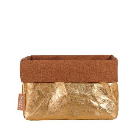 Organizer kolor złoty rozmiar L (OP 1518) wymiary 15 cm x 21 cm x 13/19* cm