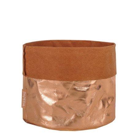 Osłonka na doniczkę  kolor miedziany 10 cm 10 cm