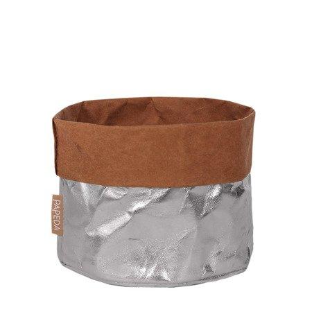 Osłonka na doniczkę kolor srebrny  19 cm / 17 cm